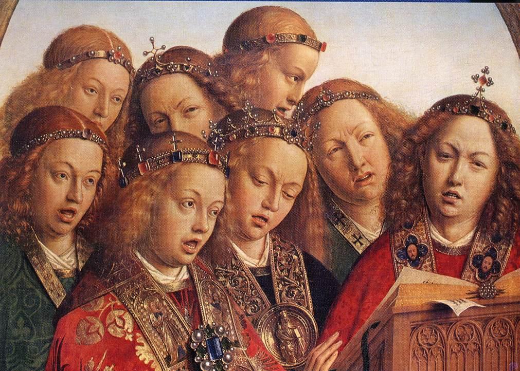angels singing at mass
